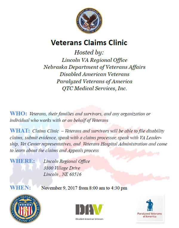 veterans Claims clinic 2017